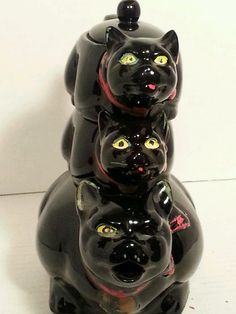 Vintage Stacking CAT Cats Teapot TEA SET | eBay