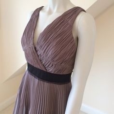 🎉HP🎉 NWT Max and Cleo Party Dress NWT Max and Cleo Party Dress....densely gathered rose taupe chiffon....cross-over bodice...accordion pleat flared skirt...tulle edged contrast waist...back zipper with hook/eye closure...machine washable....graceful and feminine. Retail $178 Max & Cleo Dresses Mini