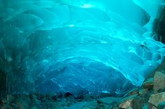 Mendenhall Ice Caves of Juneau in Alaska, USA