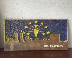 Indianapolis Skyline String Art by CactusCustomDesigns on Etsy
