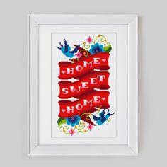 Home Sweet Home  Cross Stitch Pattern Digital por Stitchrovia