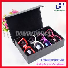 4E High grade Pu Eyeglass Eyewear Sunglasses Display Case Glasses Storage box Tray Hold 4pcs of sunglass free shipping-in Accessories from Men's Clothing & Accessories on Aliexpress.com   Alibaba Group