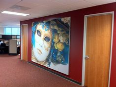 Wall Mounted Fabric Frame. http://www.productionprints.com/Fabric-Frame-s/111.htm