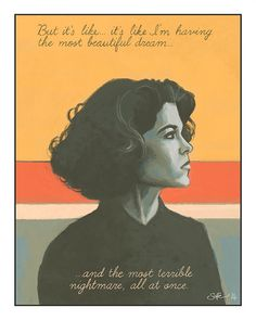 Twin Peaks - Donna Hayward (Lara Flynn Boyle) art print by Mygrimmbrother