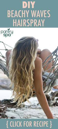A DIY sea salt spray to create beachy textured waves is a must! Adding texture, conditioner and volume without the chemicals and expense is always a good thing.