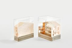 "Mies van der Rohe Emerging Architect Award 2015 to ""Casa Luz"" by Arquitectura-G, architectural model, maquette, modelo"