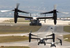 Air Force CV-22 Ospreys take off from a Kirtland Air Force Base N.M [2160  1499]