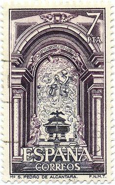 1976 Spanish Stamp - Monastery of San Pedro de Alcantara