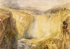'Fall der bäume, `yorkshire`', wasserfarbe von William Turner (1789-1862, United Kingdom)