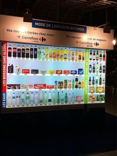 Carrefour virtual shopping in Gare du Nord