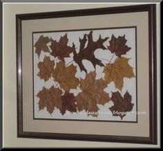 Craft Ideas for all: Fall Leaves Wall Art