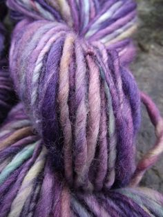 Handspun yarn, handpainted, Merino and Rambouillet yarn, multiple skeins available-SHY VIOLET by Yarnachy on @Etsy