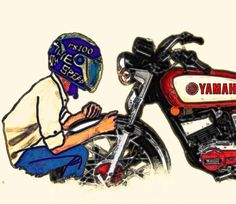 Yamaha Rx 135, Yamaha Rxz, Joker Iphone Wallpaper, Cartoon Wallpaper Hd, Motorcross Bike, Motorbike Girl, Custom Radio Flyer Wagon, Tracker Motorcycle, Bike Drawing