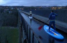 Pontcysyllte - Definitely don't lose your balanc#sup #supboardinge!