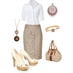 """""""Lace Skirt Outfit"""" by blass on Polyvore"""