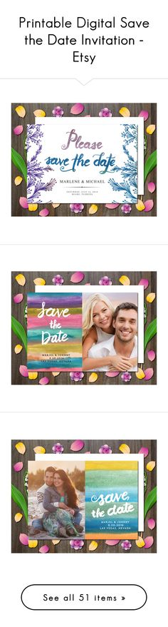 """Printable Digital Save the Date Invitation - Etsy"" by aticnomar on Polyvore"