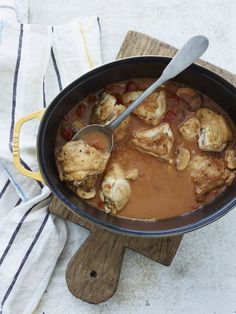 Our hunter's stew is an Italian take on a classic Polish dish, with chicken as a stand-in for pork. The tender morsels of chicken are smothered in a luscious gravy, making this a dish that the family loves.