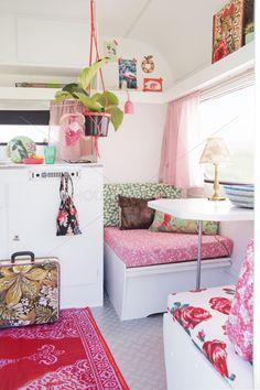 A refurbished caravan