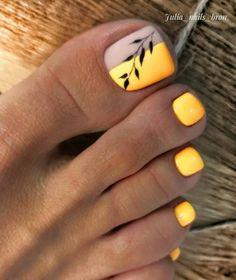 Feet Nail Design, Pedicure Nail Designs, Pedicure Nail Art, Toe Nail Designs, Nail Manicure, Manicures, Pretty Toe Nails, Cute Toe Nails, Toe Nail Color
