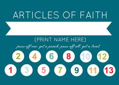 I LOVE these article of faith punch cards! Such a brilliant idea!