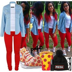 Passion 4Fashion: Pizza! Pizza! by shygurl1 on Polyvore featuring polyvore fashion style Warehouse Tusnelda Bloch Dollydagger NARS Cosmetics Converse