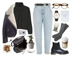 """the coffee date"" by bambikisses ❤ liked on Polyvore featuring River Island, Marni, Dr. Martens, François Pinton, Nikon, Daniel Wellington, RSVP International, Muuto, Nadine S and Alexander Wang"