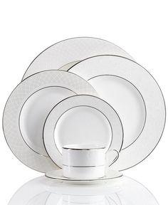 Lenox Dinnerware, Venetian Lace Collection. $24.00-$372.00. #home #dining #entertainment #dinnerware
