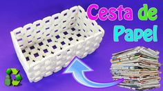 How To Make Basket From Newspaper Recycle Newspaper, Newspaper Basket, Newspaper Crafts, Hobbies And Crafts, Crafts To Make, Easy Crafts, Recycling Projects For Kids, Life Hacks Diy, Recycled Paper Crafts
