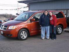 MATTHEW and JESSICA WRIGHT of Vandalia and their new 2008 DODGE GRAND CARAVAN! Congratulations and best wishes from Hosick Motors, Inc. and Sales Pro Bryan Hobbie.