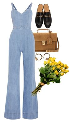 """""""Untitled #10830"""" by nikka-phillips ❤ liked on Polyvore featuring Yves Saint Laurent, Alice + Olivia and Gucci"""