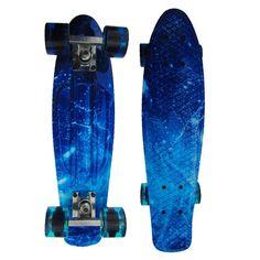 """Hot Sale Skull Floral Print Brush Street Drift 22"""" Skateboard Complete Skateboarding Mini Longboard Boy Girl Cruiser Skate Board"""