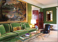 Cote De Texas|Tory Burch's apartment...amazing painting!