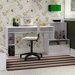 Mesa de Computador/Escrivaninha Max Blanco Textura - Fiasini | Lojas KD