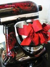 One day I will have one of these custom painted KitchenAid Mixers!