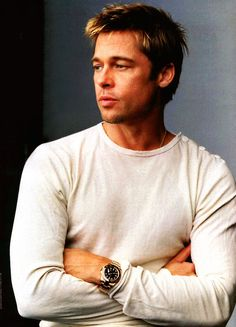 How Sexy is Brad Pitt Sporting a Rolex Watch? Gorgeous Men, Beautiful People, Amazing People, Simply Beautiful, Pretty People, Brad Pitt Pictures, Divas, Brad And Angelina, Angelina Jolie