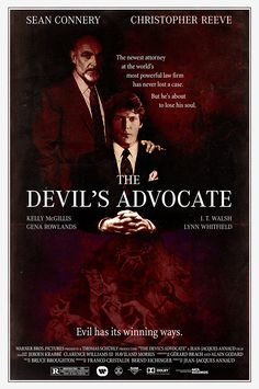 """The Devil's Advocate"" movie poster from 1985, reimagined by designer Peter Stults. https://behance.net/PeterStults"