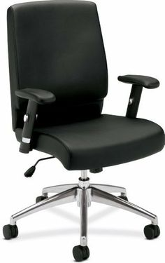 basyx by HON HVL101 Executive Mid-Back Chair, Black by basyx by HON. $137.54. The basyx by HON HVL101 cuts an impressive profile. From the polished metal base to the contoured black leather back and seat, the basyx VL101 strikes just the right balance between luxury and show-stopping style.. Save 62% Off!