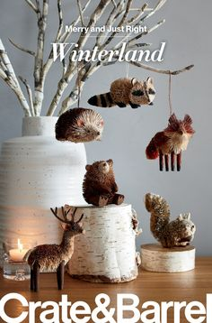 Find all you need to make this holiday season merry and just right at Crate and Barrel. Woodland Christmas, Rustic Christmas, Christmas Home, Christmas Holidays, Merry Christmas, Holiday Crafts, Holiday Fun, Christmas Activities, Xmas Ornaments
