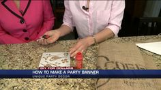 DIY For Dollars: How to make a party banner