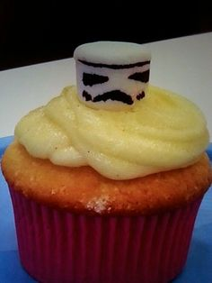 Storm Trooper cup cakes Cup Cakes, Desserts, Food, Tailgate Desserts, Petit Fours, Meal, Dessert, Eten, Cupcake