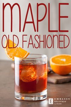 AN OLD FASHIONED FALL. If you can't join us for complimentary drinks during Evening Reception, try this pretty great Maple Old Fashioned. Get the recipe now!