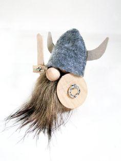 Viking Erik, Miniature Doll Hand Made - Swedish. Handmade by studioLISE.. $24.00, via Etsy.