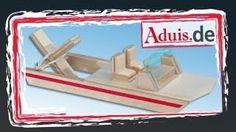 """Boot """"Wasserfloh"""" mit Gummimotor - Bausatz zum einfachen Nachbauen - YouTube"""