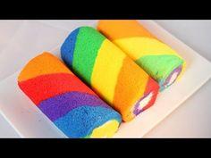 How to Make Rainbow Cake Roll / Cake roll Recipe /彩虹蛋糕卷 - YouTube