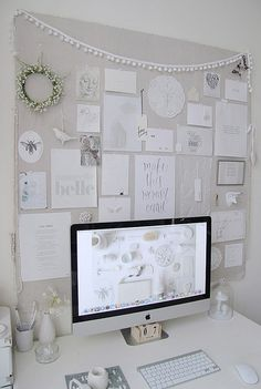 Workspace • Love the Neutral and orderly inspiration board