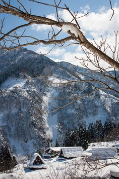 Winter - Historic Villages of Ainokura in Gokayama, Toyama, Japan Yamaguchi, Monuments, The Places Youll Go, Places To Visit, Beautiful World, Beautiful Places, Mountain Photos, Winter Magic, Winter's Tale