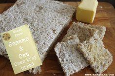 Sesame & Oat Oven Tray Bread : Wheat Free (GF option)