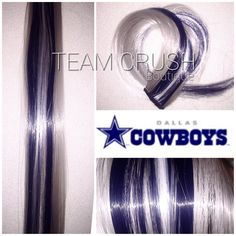A personal favorite from my Etsy shop https://www.etsy.com/listing/400004907/dallas-cowboys-18-clip-in-colored-hair