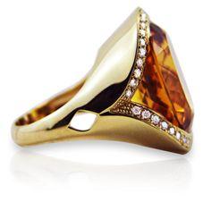 Rosendorff Jewellers ~ Honey Citrine and Diamond Ring