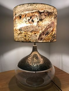 Stone Veneer Lampshade Burning Forest With A transulcent Lining Real Stone Veneer, Clear Resin, Boarders, Patterns In Nature, Lampshades, 10 Days, Bespoke, Highlights, Glow